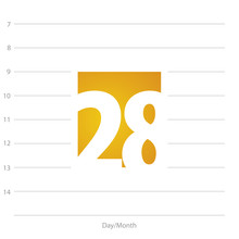 2019 Calendar Day 28 Planner Yellow  Sticker