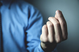 Businessman pointing fingers. Business concept - 218621905