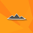 pyramids icon with shadow for web and mobile