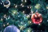 Christmas ball on the tree for decoration - 218629704