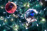 Christmas ball on the tree for decoration - 218630315