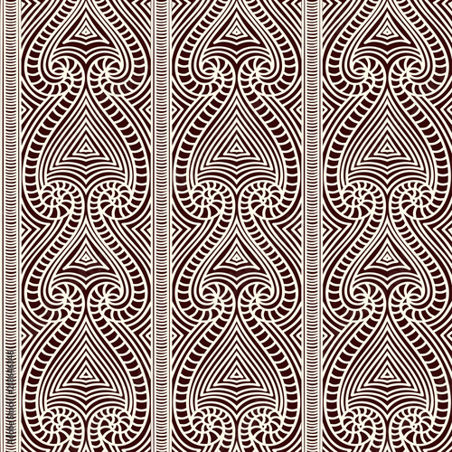 Maori Tribal Pattern Vector Seamless African Fabric Print Polynesian Aboriginal Art Ethnic Black