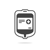 Blood bag icon vector isolated - 218647158
