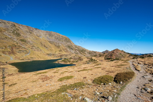 Hiking trail in the Pyrenees Orientales mountains