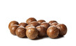 Close up of Macadamia Nuts isolated on white background