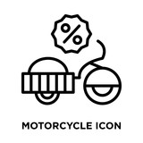 Motorcycle icon vector isolated on white background, Motorcycle sign , line symbol or linear element design in outline style
