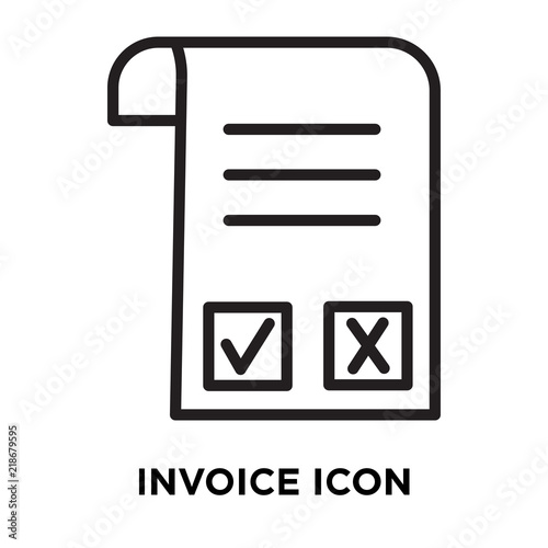 invoice icon vector isolated on white background invoice sign