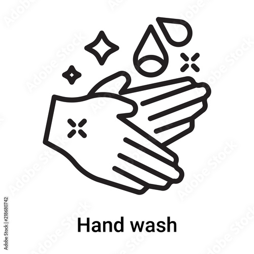 Hand Wash Icon Vector Isolated On White Background Hand Wash Sign