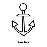 Anchor icon vector isolated on white background, Anchor sign , line or linear sign, element design in outline style
