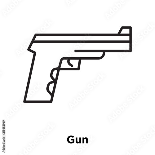 Gun Icon Vector Isolated On White Background Gun Sign Sign And