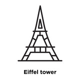 Eiffel tower icon vector isolated on white background, Eiffel tower sign , thin line design elements in outline style