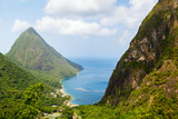 Iconic view of Piton mountains