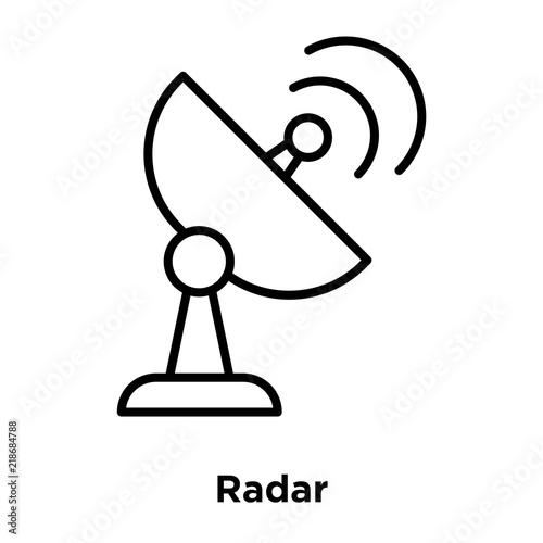 Radar Icon Isolated On White Background Modern And Editable Radar