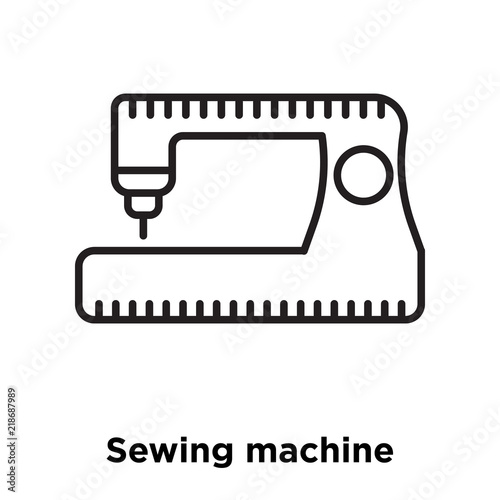 Sewing Machine Icon Vector Isolated On White Background Sewing