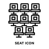 Seat icon vector isolated on white background, Seat sign , line and outline elements in linear style