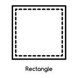 Rectangle icon vector isolated on white background, Rectangle sign , line or linear design elements in outline style - 218696332
