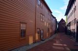 View of historical buildings of Bergen, Norway - 218722303