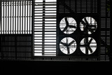 Silhouette of factory roof fans