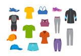 sport fitness clothing graphics set