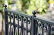 Wrought iron railings, grey
