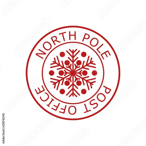 North Pole Post Office Sign Or Stamp