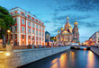 Leinwandbild Motiv St. Petersburg - Church of the Saviour on Spilled Blood, Russia
