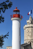 Lighthouse in the port of La Rochelle - France poster