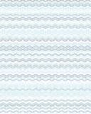 Seamless blue wavy lines simple pattern, abstract geometric background - 218773163