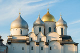 St Sophia cathedral in Veliky Novgorod, Russia. Closeup of Veliky Novgorod Russia landmark