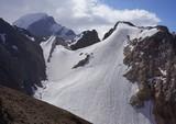 Snowy peaks in the fann Mountains, Tajikistan