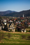 Kroscienko on the Dunajec village, Pieniny, Poland