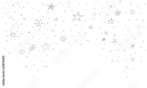 Sterne Stern Regen Konfetti Schnee Weihnachten Flocken Schneeflocken Skizze Zeichnung