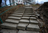 Broken staircase in Russia
