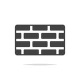 Brick wall icon vector isolated - 218809511