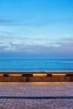 Sea Promenade and the Sky in Monaco at Dusk