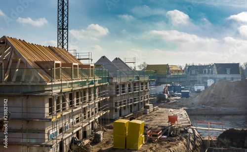 construction site of new homes