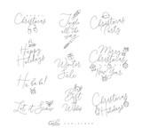 Christmas pen line lettering - 218840505