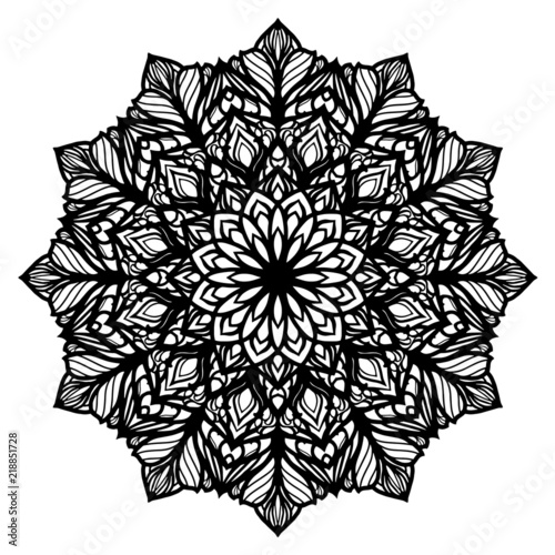 Mandala Pattern Vector - Coloring Page Design