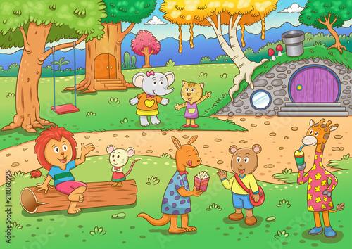 Картинки по запросу A house in the forest cartoon