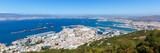 Gibraltar Hafen Panorama Port Schiffe Flughafen Meer Mittelmeer Urlaub Stadt - 218863592