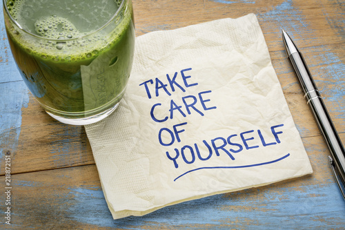 take care of yourself - napkin concept
