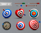 Realistic Target Transparent Icon Set - 218878926
