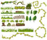 A set of jungle element - 218883385