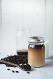 Cold brew coffee Arabica coffee In a glass bottle