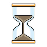 timer hourglass isolated icon - 218889515