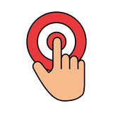 target with hand indexing