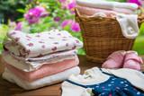 洗濯 女の子の洋服 - 218898390