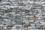 Old grey stone wall texture - 218902948