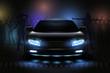 Car Show Lights Composition