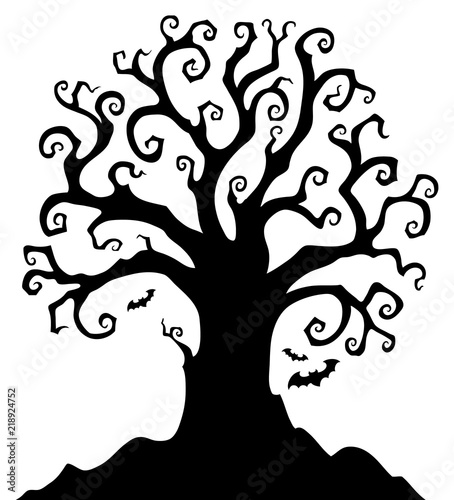 halloween tree silhouette topic 1